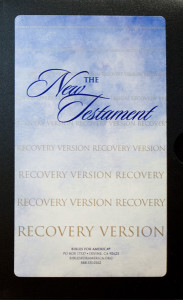 The New Testament Recovery Version book cover